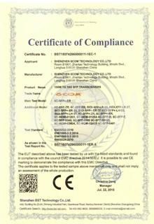 SFP CE Certificate